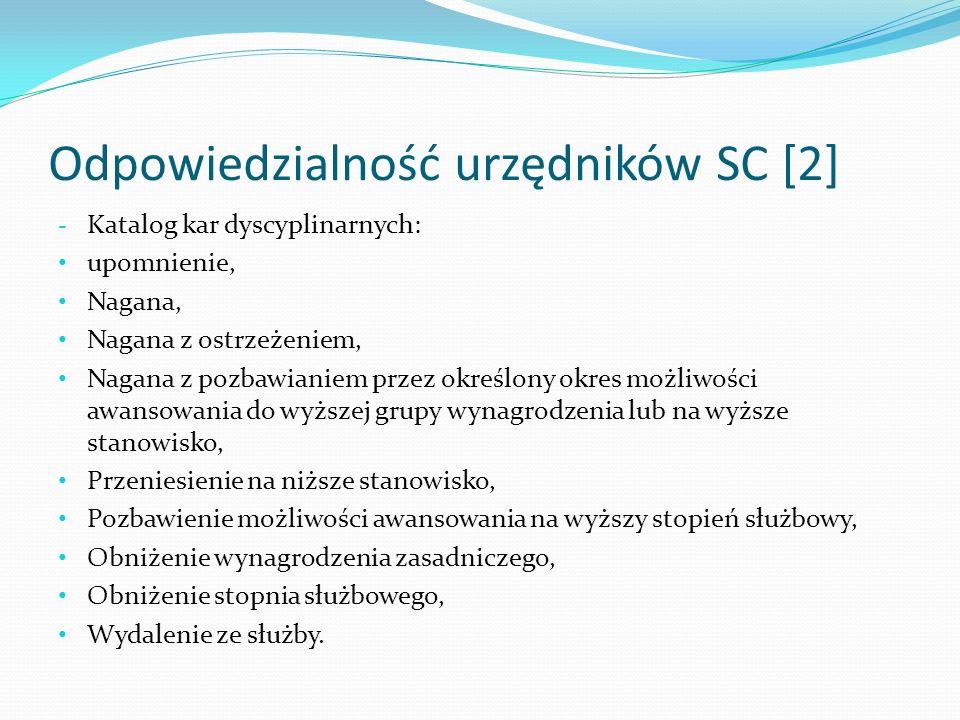 Odpowiedzialność urzędników SC [2]
